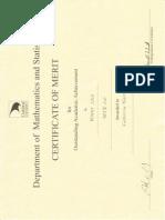 math certificates 3