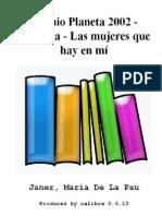 Premio Planeta 2002 - Finalista - Las Mu - Janer, Maria de La Pau