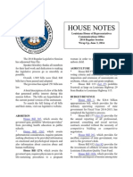 2014 House Notes Wrap-Up