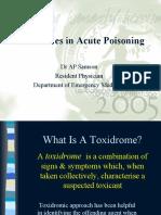 Toxidrome Poison Control