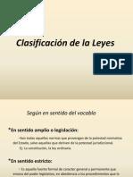 Clasificación de La Leyes