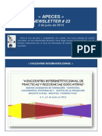 APECES - Newsletter No 23