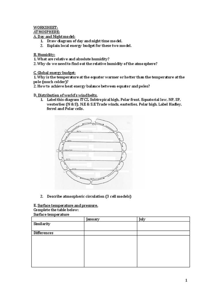 Workbooks stages of change worksheets : WORKSHEET for Revision Geo Pop, Migration and Atmosphere ...