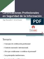 Certificaciones Profesionales en Seguridad de La Informacion