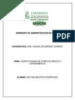 Tarea 2 Competitividad de La Pyme en México y América Latina