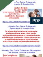 Consejos Para Quedar Embarazada Rapidamente - 7 Consejos Útiles