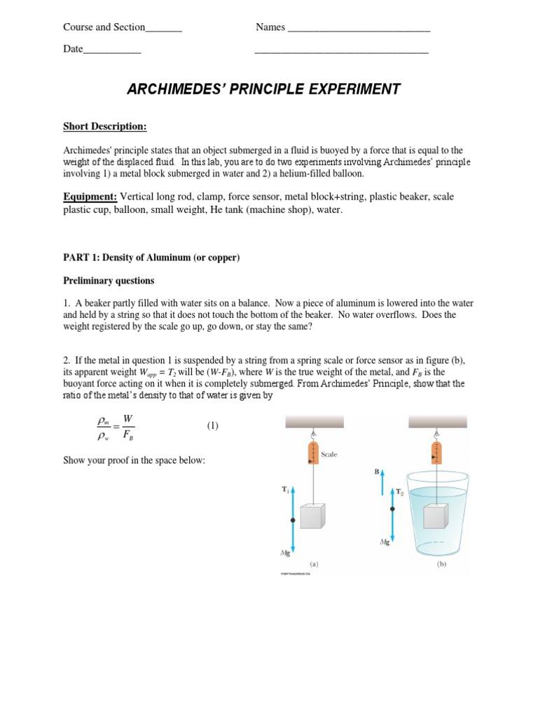 archimedes principle equation. archimedes principle equation r