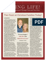 Living Life Newsletter Spring 2014