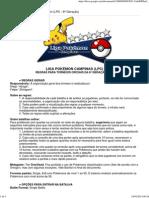Regras Para Torneios Pokémon (LPC - 6ª Geração)