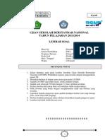 Soal Latihan Usbn Pai 2014