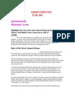 Assignment#1 Pak 301 Bc090401044 Shafaqat Azam