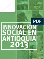 Publicacion innovación social en antioquia 2013