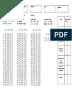 Sample Employee Assessment Answer sheet