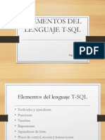 Elementos Del Lenguaje T-SQL