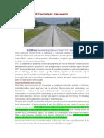 Fiber Reinforced Concrete in Pavements