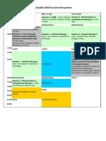 BioSysBio Conference 2008 Schedule