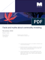 Facts and Myths About Commodity Investing MAN Investments