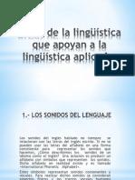Áreas de La Lingüística Que Apoyan a La Linguistica Aplicada