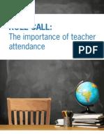 Teacher Attendance Report