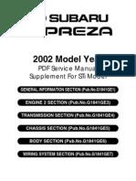 subaru impreza 2002 service manual throttle fuel injection rh scribd com 2002 subaru legacy service manual 2002 subaru forester service manual