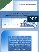 Influenta, Persuasiunea,Manipularea Si Relatiile Publice