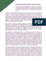 Cronica Sobre La Puya 23mayo2014