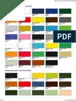Tamiya Colour Chart