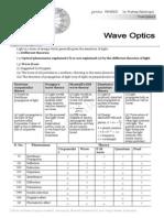 Wave Optics Theory MM