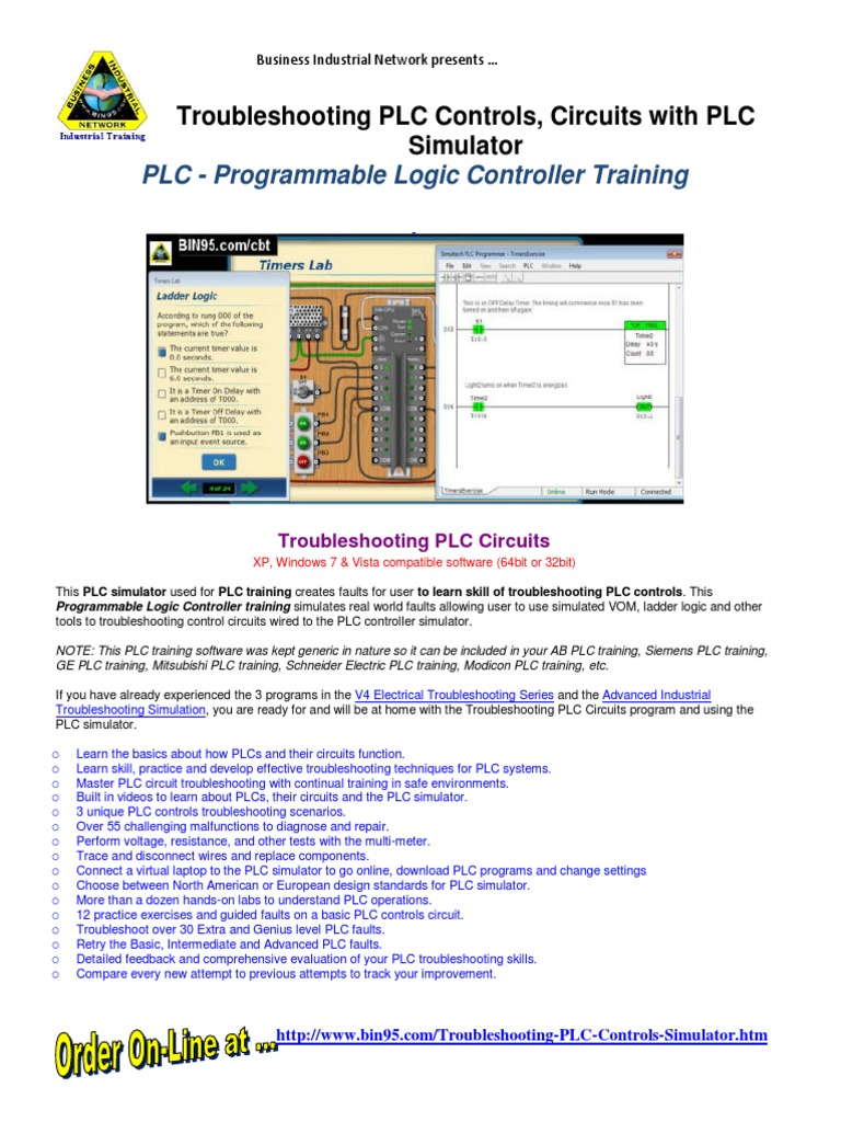 Plc Simulator Troubleshooting Training Programmable Logic Ladder For Dummies Controller
