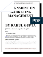 Assignment on Marketing Management
