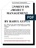Assignment on Project Management