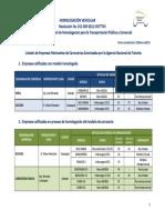 Listado de Empresas Fabricantes de Carroceras en Proceso 25-02-2013