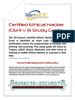 Certified Ethical Hacker v8 - Study Guide | Threat (Computer