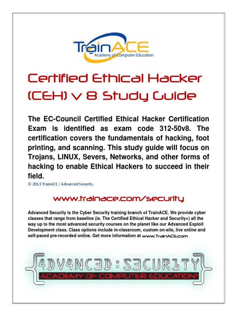 certified ethical hacker v8 study guide threat computer rh scribd com Certified Ethical Hacker Degree Certified Ethical Hacker Degree