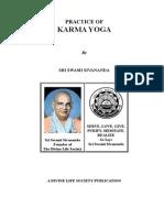 Practice of Karma Yoga - Swami Sivananda