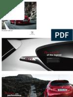 Peugeot 208 Gti Range Brochure