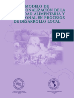 Modelo de Operacionalización de SAN en Desarrollo Local