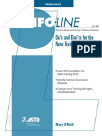 Orientation Dos and Donts Infoline