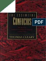 Confucius - Essential Confucius [Trans. Cleary] (HarperCollins, 1992)