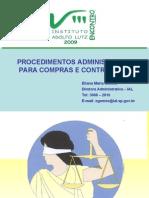 palestra sobre procedimentos de compras em órgãos publicos estaduais