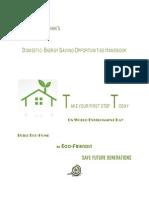 GeoRakshan's Domestic Energy Savings Opportunities Handbook