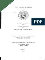 Msc Physics