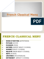 French Classical Menu