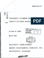 Transient Chamber Pressure and Thrust in Solid Rocket Motors