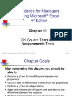 Chap11_Chie Square & Non Parametrics