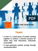 Module 7 - Teams and Team Work