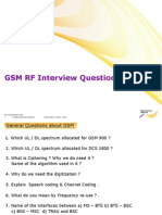 GSM RF Interview Queries