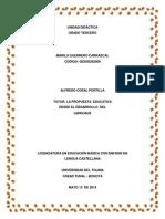 Tutoría 4 - Unidad Didáctica