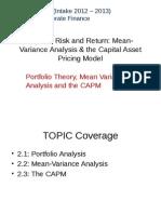 CF Chap2 - Risk and Return (2012)