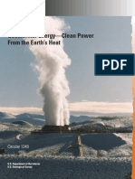 Geothermal Energy—Clean Power From the Earth's Heat